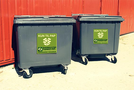 Pap-containere til leje, udlejning